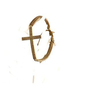 Tai cross CZ bracelet